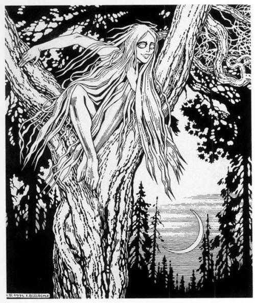 Rusalka by Ivan Bilibin , 1934.